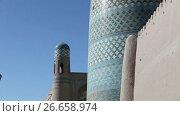Купить «unfinished Kalta Minor Minaret minaret Muhammad Amin Khan 19th century. Khiva, Uzbekistan», видеоролик № 26658974, снято 6 июля 2009 г. (c) Куликов Константин / Фотобанк Лори