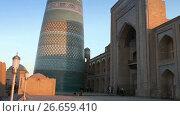 Купить «unfinished Kalta Minor Minaret minaret Muhammad Amin Khan 19th century. Khiva, Uzbekistan», видеоролик № 26659410, снято 6 июля 2009 г. (c) Куликов Константин / Фотобанк Лори