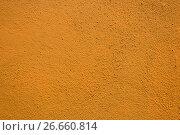 Купить «Texture from brown plaster on wall», фото № 26660814, снято 21 июня 2017 г. (c) Кирилл Черезов / Фотобанк Лори