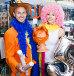 Cheerful couple choosing funny headdresses, фото № 26668962, снято 11 апреля 2017 г. (c) Яков Филимонов / Фотобанк Лори