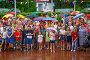 Люди с зонтами на празднике, фото № 26690746, снято 23 июля 2017 г. (c) Иван Карпов / Фотобанк Лори