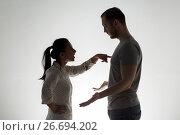 Купить «angry couple having argument», фото № 26694202, снято 20 января 2017 г. (c) Syda Productions / Фотобанк Лори