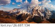 Marmolada group, Fassa Valley, Dolomites, Trentino, Italy. Стоковое фото, фотограф Clickalps SRLs / age Fotostock / Фотобанк Лори