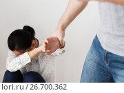 Купить «unhappy woman suffering from domestic violence», фото № 26700362, снято 20 января 2017 г. (c) Syda Productions / Фотобанк Лори