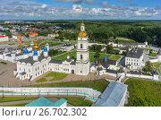 Bird eye view onto Tobolsk Kremlin in summer day (2016 год). Редакционное фото, фотограф Сергей Буторин / Фотобанк Лори