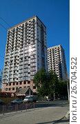 Купить «Строительство современных зданий», фото № 26704522, снято 21 июля 2017 г. (c) Кургузкин Константин Владимирович / Фотобанк Лори