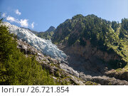 Купить «Glacier les Bossons, Chamonix du Mont Blanc», фото № 26721854, снято 3 июля 2017 г. (c) Юлия Кузнецова / Фотобанк Лори
