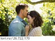 Купить «Man kissing woman on forehead», фото № 26722170, снято 13 февраля 2017 г. (c) Wavebreak Media / Фотобанк Лори