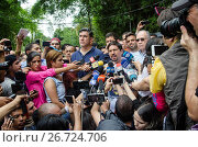 Купить «Freddy Guevara, leader of the People's Will and First Vice-President of the National Assembly of Venezuela, gives statements to the press about the resolution...», фото № 26724706, снято 8 июля 2017 г. (c) age Fotostock / Фотобанк Лори