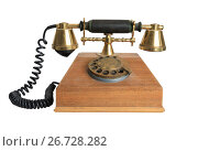 Купить «Vintage telephone receiver», фото № 26728282, снято 30 июля 2017 г. (c) Алексей Кузнецов / Фотобанк Лори