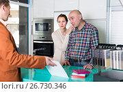 Купить «Clients dissatisfied with the quality», фото № 26730346, снято 4 апреля 2017 г. (c) Яков Филимонов / Фотобанк Лори
