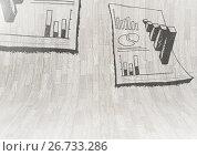 Купить «statistic research charts graphics on curved wood wall», иллюстрация № 26733286 (c) Wavebreak Media / Фотобанк Лори