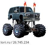 Купить «Cartoon Monster Truck», иллюстрация № 26745234 (c) Александр Володин / Фотобанк Лори