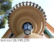 Купить «Дом-музей Антонио Гауди в Парке Гуэль. Фрагмент», фото № 26745270, снято 25 марта 2013 г. (c) Free Wind / Фотобанк Лори