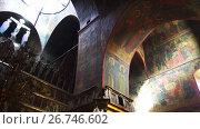 Купить «Trinity Cathedral in Lavra, Sergiyev Posad, Russia», видеоролик № 26746602, снято 25 октября 2016 г. (c) BestPhotoStudio / Фотобанк Лори