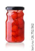 Купить «Jar of maraschino cocktail cherries», фото № 26752562, снято 20 июля 2017 г. (c) Антон Стариков / Фотобанк Лори