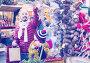 Cheerful man with small daughter near Christmas decoration, фото № 26757206, снято 15 августа 2017 г. (c) Яков Филимонов / Фотобанк Лори