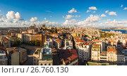 Купить «Panorama in Istanbul, Turkey», фото № 26760130, снято 21 октября 2018 г. (c) Mikhail Starodubov / Фотобанк Лори