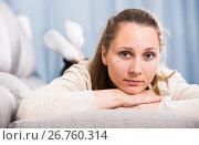 Woman feeling sad. Стоковое фото, фотограф Яков Филимонов / Фотобанк Лори