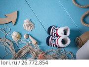 Composition of sailors toys for child. Стоковое фото, фотограф Кирилл Греков / Фотобанк Лори