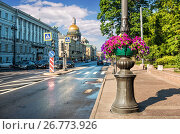Купить «Санкт-Петербург. Адмиралтейский проспект. Admiralty Avenue in St. Petersburg», фото № 26773926, снято 10 июля 2017 г. (c) Baturina Yuliya / Фотобанк Лори