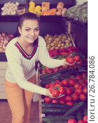 Купить «Girl in grocery shop», фото № 26784086, снято 23 ноября 2016 г. (c) Яков Филимонов / Фотобанк Лори