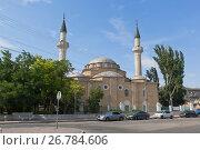 Купить «Вид на мечеть Джума-Джами в городе Евпатории, Крым», фото № 26784606, снято 19 июля 2017 г. (c) Николай Мухорин / Фотобанк Лори