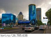 Купить «Казахстан. Астана. Деловой квартал в центре города», фото № 26785638, снято 10 июня 2017 г. (c) Сергеев Валерий / Фотобанк Лори