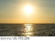 Купить «Плещеево озеро в Переславле-Залесском», фото № 26793286, снято 31 июля 2017 г. (c) Елена Коромыслова / Фотобанк Лори