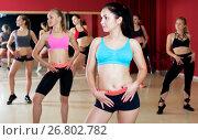 Купить «Active females dancing excited posing», фото № 26802782, снято 31 мая 2017 г. (c) Яков Филимонов / Фотобанк Лори