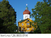 Купить «Вознесенская церковь-маяк на Секирной горе на Большом Соловецком острове», фото № 26803014, снято 16 августа 2017 г. (c) Natalya Sidorova / Фотобанк Лори