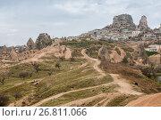 Крепость Учхисар, Турция, фото № 26811066, снято 6 января 2015 г. (c) Юлия Бабкина / Фотобанк Лори