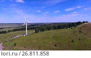 Купить «Вид сверху на генератор электроэнергии», видеоролик № 26811858, снято 24 августа 2017 г. (c) Slasha / Фотобанк Лори