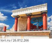 Купить «Кносский дворец на Крите, Ираклион, Греция», фото № 26812266, снято 5 июня 2017 г. (c) Наталья Волкова / Фотобанк Лори
