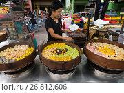 Купить «Chinese dumplings for sale», фото № 26812606, снято 13 марта 2017 г. (c) Александр Подшивалов / Фотобанк Лори