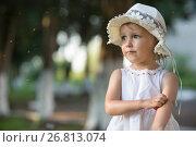 Купить «girl scratches her hand from a mosquito bite», фото № 26813074, снято 21 июня 2017 г. (c) Типляшина Евгения / Фотобанк Лори