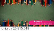 Composite image of back to school text with hashtag. Стоковое фото, агентство Wavebreak Media / Фотобанк Лори