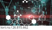 Купить «Composite image of digitally generated image of chemical structure», иллюстрация № 26815662 (c) Wavebreak Media / Фотобанк Лори