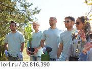 Купить «group of volunteers with tree seedlings in park», фото № 26816390, снято 7 мая 2016 г. (c) Syda Productions / Фотобанк Лори