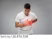 Купить «unhappy man suffering from heart ache», фото № 26816538, снято 21 декабря 2016 г. (c) Syda Productions / Фотобанк Лори