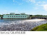 Купить «Волховская ГЭС. Волхов», эксклюзивное фото № 26818838, снято 12 августа 2017 г. (c) Александр Щепин / Фотобанк Лори