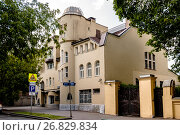 Купить «Москва, Вадковский переулок, дом 5», фото № 26829834, снято 18 августа 2017 г. (c) glokaya_kuzdra / Фотобанк Лори