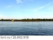 "Купить «Буксир-толкач ""Русло"" на реке Обь», фото № 26843918, снято 29 мая 2017 г. (c) Free Wind / Фотобанк Лори"