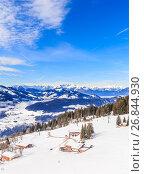 Купить «На склонах горнолыжного курорта Hopfgartel, Тироль, Австрия», фото № 26844930, снято 2 февраля 2017 г. (c) Николай Коржов / Фотобанк Лори