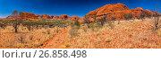Kata Tjuta or Olgas, Ulu?u-Kata-Tju?a National Park, Northern Territory, Australia. Стоковое фото, фотограф Martin Kober / age Fotostock / Фотобанк Лори