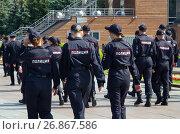 Купить «Курсанты полиции на Поклонной горе в Москве», эксклюзивное фото № 26867586, снято 31 августа 2017 г. (c) Елена Коромыслова / Фотобанк Лори