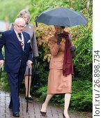 Купить «HRH Princess Anne, the Princess Royal arrives to open the Citizen...», фото № 26898734, снято 18 мая 2016 г. (c) age Fotostock / Фотобанк Лори