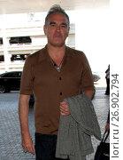 Morrissey arrives at Los Angeles International Airport (2016 год). Редакционное фото, фотограф WENN.com / age Fotostock / Фотобанк Лори