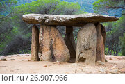 Купить «Pedra Gentil megalith», фото № 26907966, снято 9 октября 2016 г. (c) Яков Филимонов / Фотобанк Лори