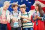 Composite image of boy with friends using mobile phone, фото № 26929302, снято 18 сентября 2017 г. (c) Wavebreak Media / Фотобанк Лори